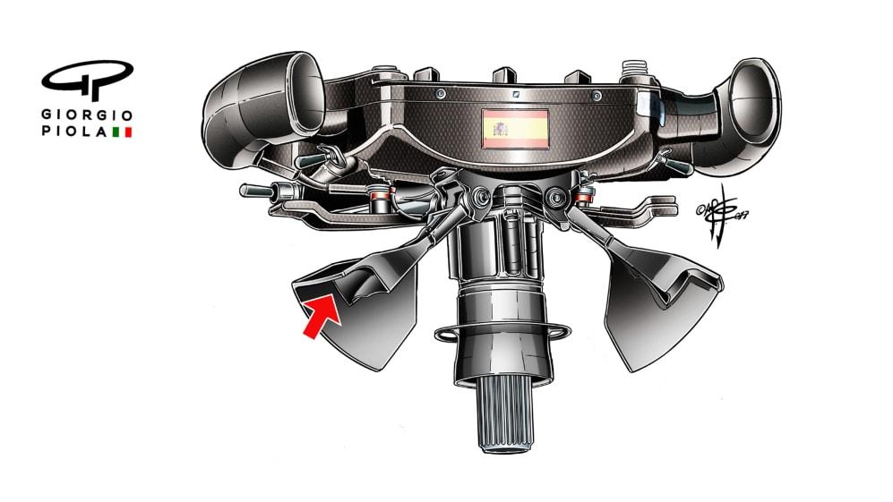 McLaren MCL32 - Alonso Brazil steering wheel