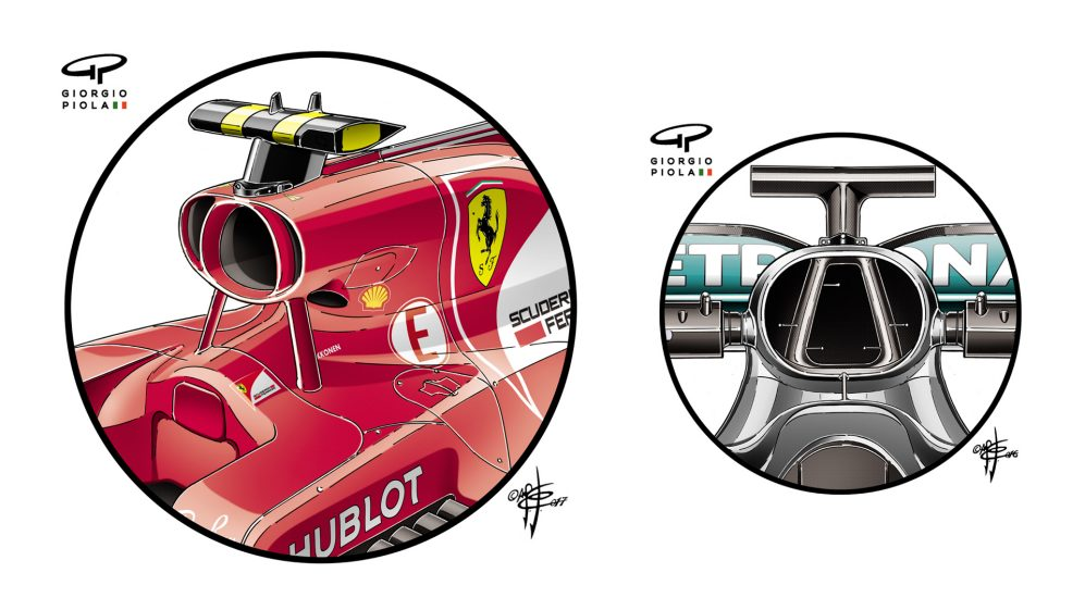 Ferrari & Mercedes Japan airboxes