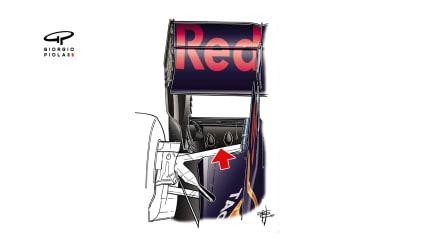 Red Bull RB13 - Japan rear diffuser