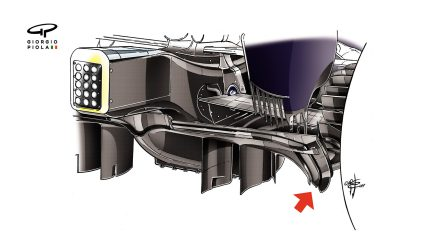 Red Bull RB13 - rear diffuser