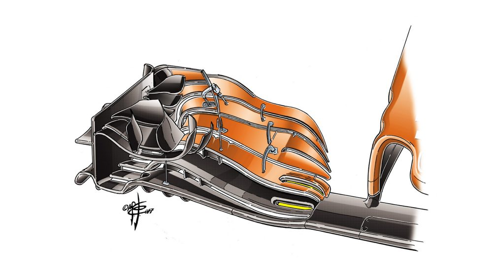 McLaren MCL32 - USA front wing
