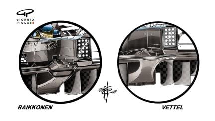 Ferrari SF70H - USA diffuser