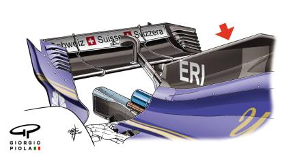 Sauber C36 - Mexico engine cover fin