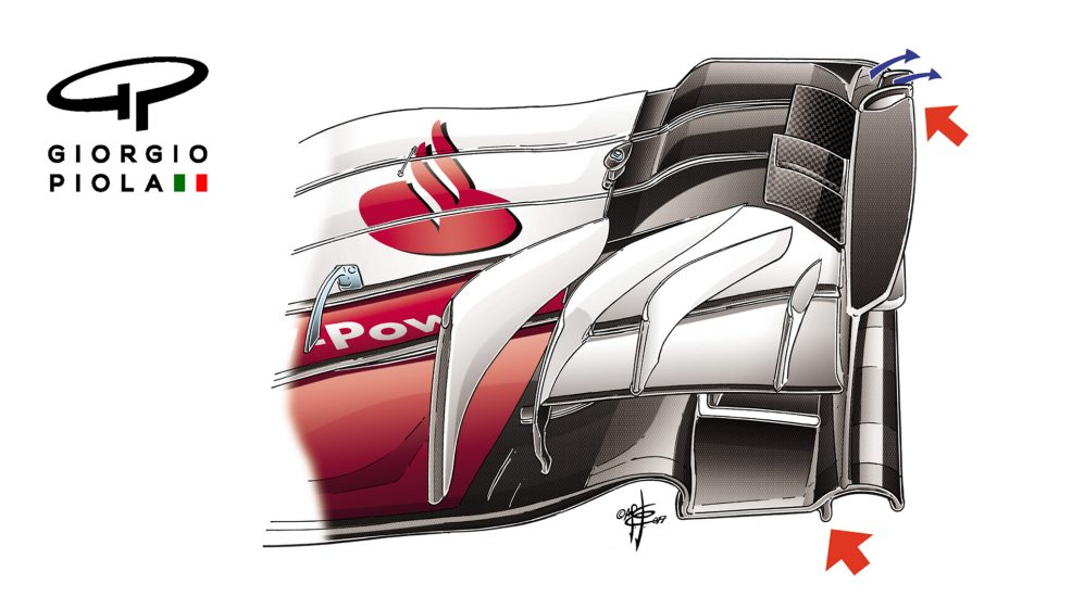 Ferrari SF70H - US and Mexico front wing