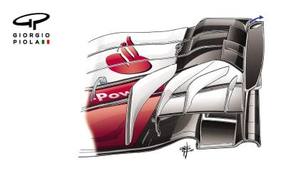 Ferrari SF70H - pre-US front wing