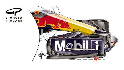 Red Bull RB13 - Brazil front wing endplate