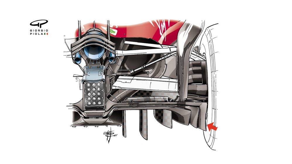 Ferrari SF70H - Abu Dhabi diffuser