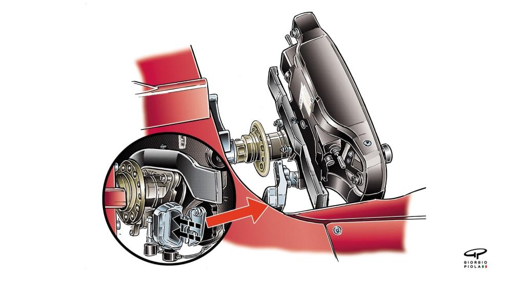 Ferrari SF70H - Vettel clutch arrangement, Spain