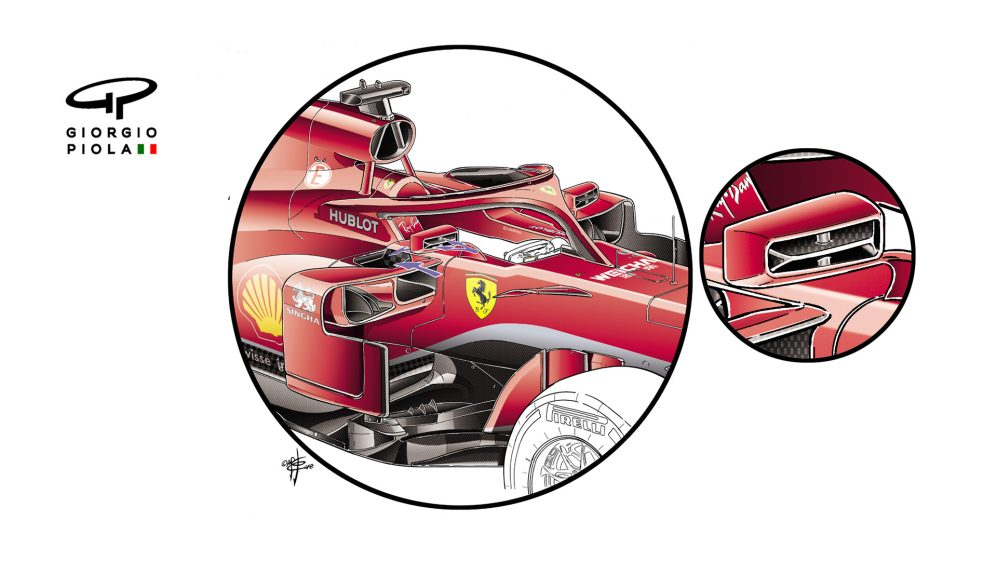 Ferrari SF71H - sidepods, first test