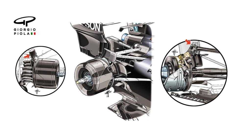 Mercedes F1 W09 - rear suspension