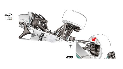 Mercedes F1 W09 - front suspension