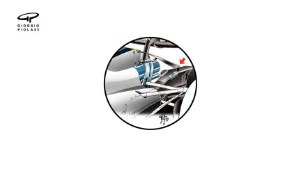 Williams FW40 - lower T-wing