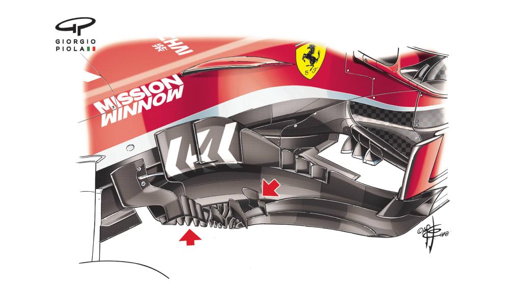 Ferrari SF71H - USA floor