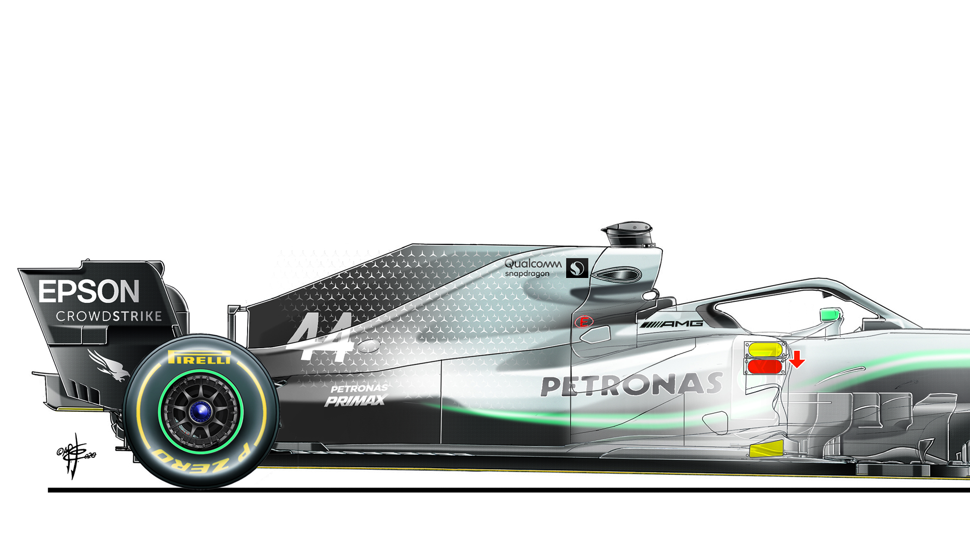 Tech Insight How A Ferrari Like Sidepod Tweak Could Help Mercedes Go Even Faster In 2020 Formula 1