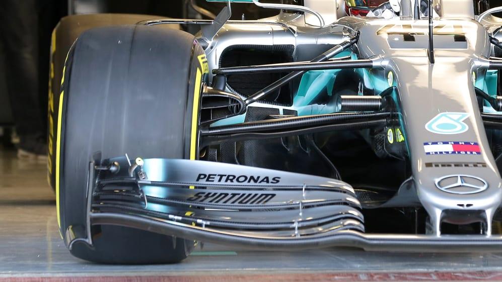 Mercedes-W10-brake-duct