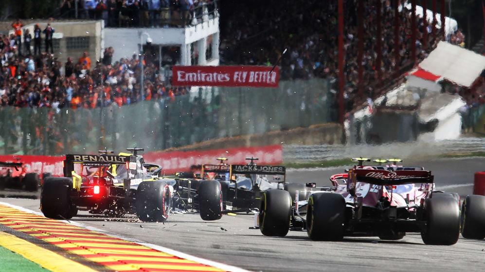 Belgian Grand Prix 2019: Ricciardo expected to retire car after Lap 1 clash | Formula 1®