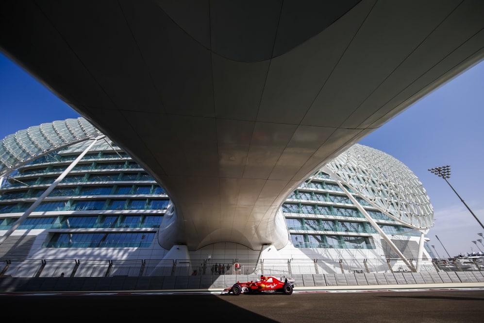Yas Marina Circuit, Abu Dhabi, United Arab Emirates. Friday 24 November 2017. Sebastian Vettel, Ferrari SF70H.