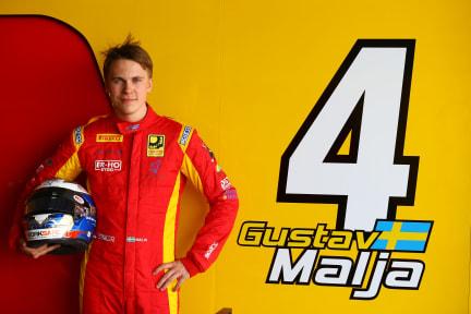 Formula 2 driver Gustav Malja (SWE)