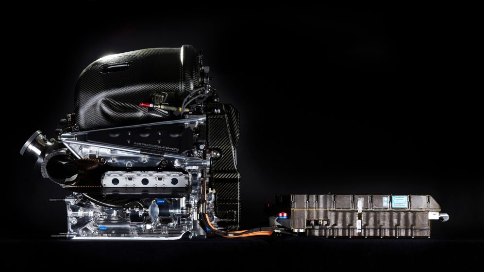 The Mercedes PU106C Hybrid power unit