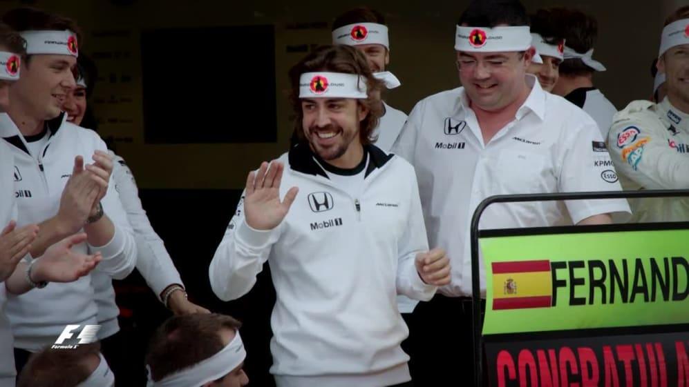 Alonso celebrates 250 Grands Prix in Sochi