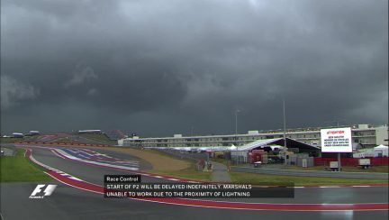 FP2: Session delayed due to proximity of lightning