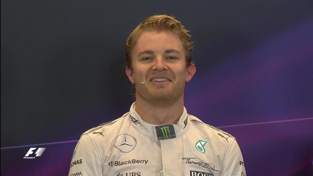 Nico Rosberg Interview nach dem Qualifying in den USA