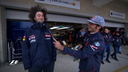 Fun and games in the pitlane on Saturday afternoon