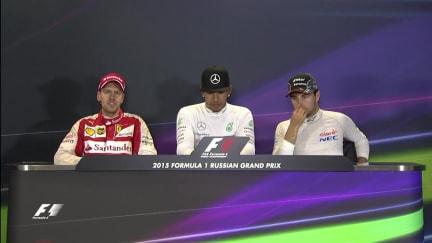 Sebastian Vettel Interview nach dem Rennen in Russland