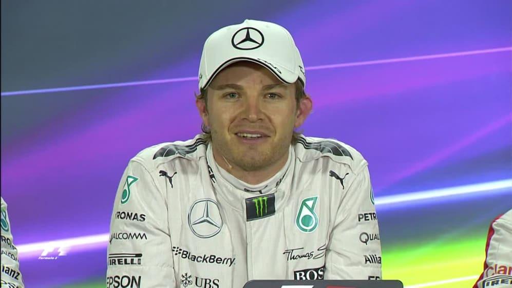 Nico Rosberg Interview nach dem Qualifying in Abu Dhabi