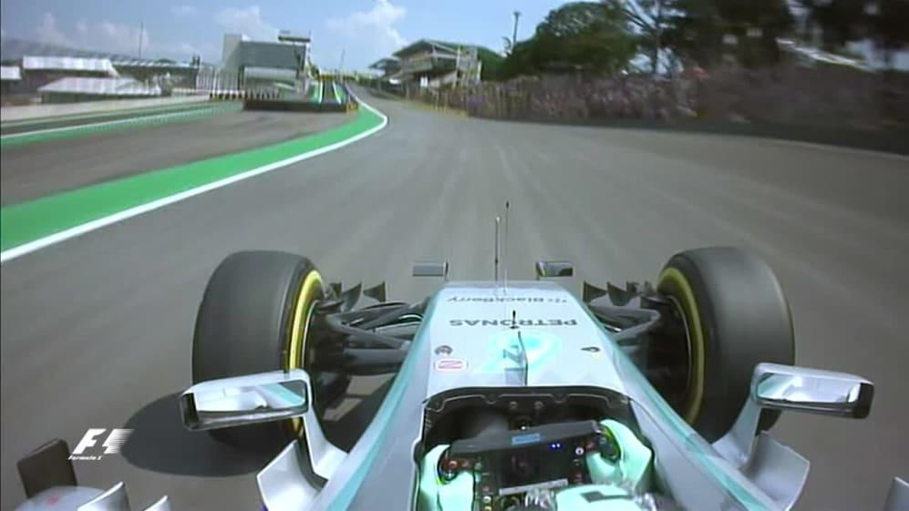 Rosberg's onboard pole position lap - Brazil