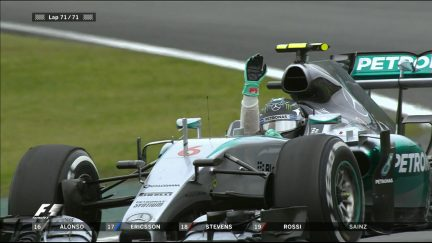 Rosberg takes the chequered flag in Brazil