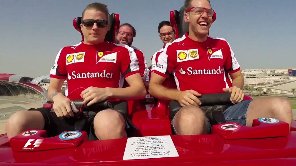 Seb and Kimi versus the world's fastest rollercoaster