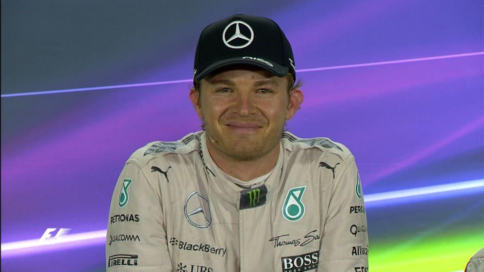 Nico Rosberg Interview nach dem Rennen in Abu Dhabi