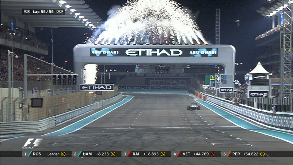 Rosberg makes it three in a row with victory in Abu Dhabi