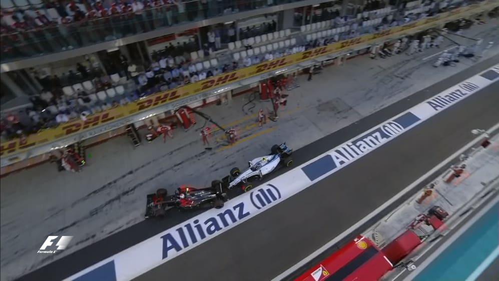 Race: Bottas penalised for pit lane collision in Abu Dhabi