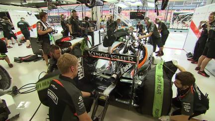 How do you start a Formula 1 car?