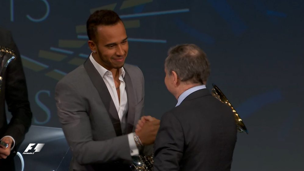 FIA Prize-Giving 2015: Top 3 drivers receive their trophies