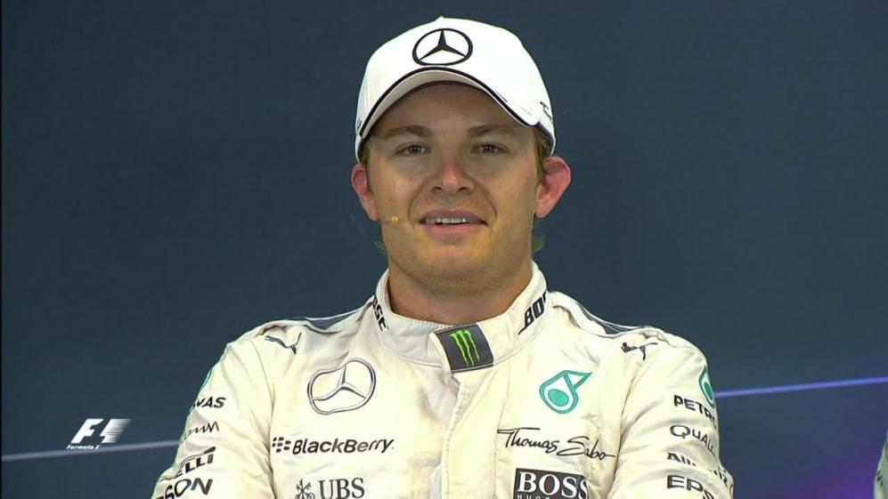 Nico Rosberg interview nach dem Qualifying in Belgien