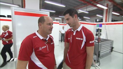 Alexander Rossi joins the Marussia F1 Team in Singapore