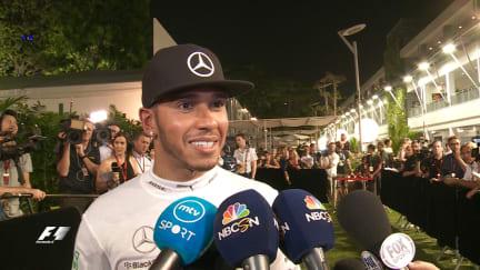 Post-race interviews - Singapore