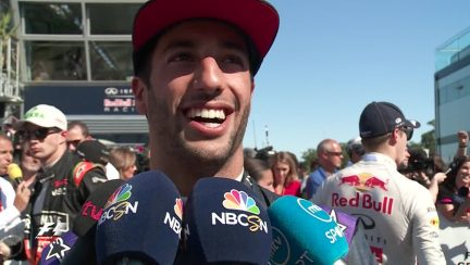 Post-race interviews - Italy