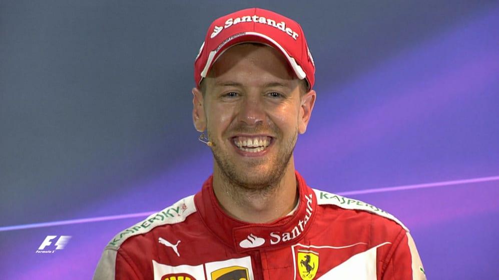 Sebastian Vettel Interview nach dem Rennen in Singapur