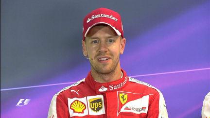 Sebastian Vettel Interview nach dem Qualifying in Singapur