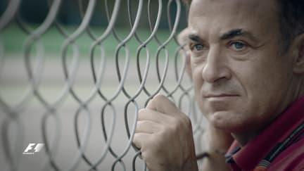 Jean Alesi celebrates the 'Temple of Speed'