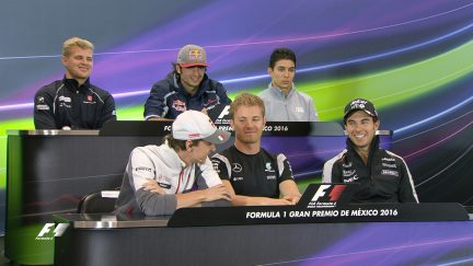 Drivers face the press in Mexico