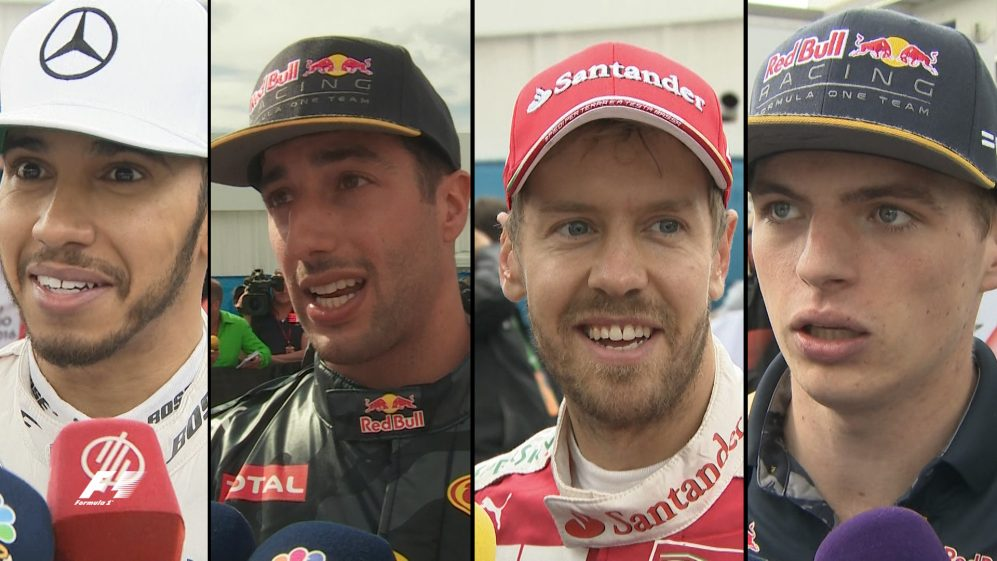 Drivers report back after the race in Mexico