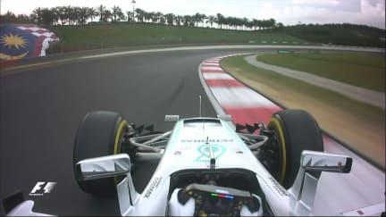 Onboard pole position lap - Lewis Hamilton, Malaysia 2016