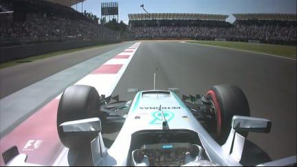 Onboard pole position lap - Lewis Hamilton, Mexico 2016