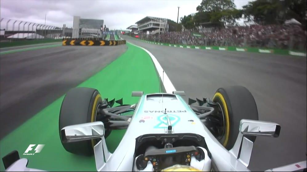 Onboard pole position lap - Lewis Hamilton, Brazil 2016