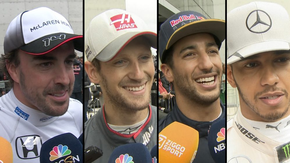 Drivers report back after qualifying in Brazil